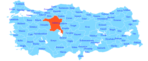 Şehirler arası nakliyat Türkiye haritası ankara ambar